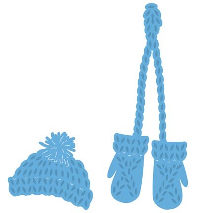 Knitted hat and mittens (muts met wantjes)