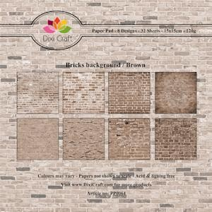 Bricks background brown