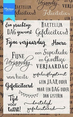 Clear stamps felicitaties