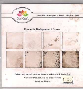 Romantic background brown