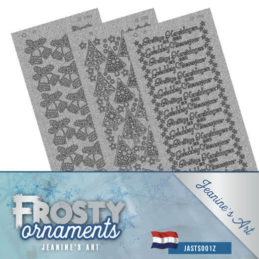 Frosty ornaments sticker set