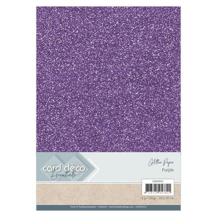 Card Deco Glitter Papier Castella Creatief