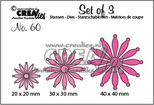Set of 3 bloemen